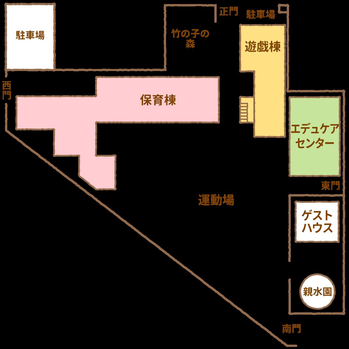 竹の子幼稚園園内地図